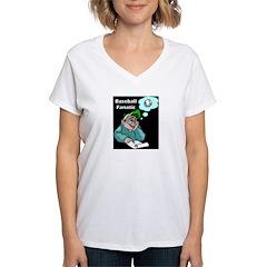 kids baseball Women's V-Neck T-Shirt