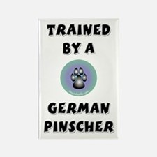 Trained by a German Pinscher Rectangle Magnet (100
