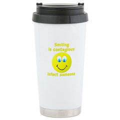 Smiling is contagious Travel Mug