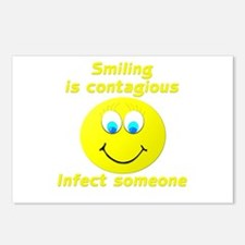 Smiling is contagious Postcards (Package of 8)