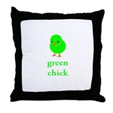 Green Chick Earth Day T Shirt Throw Pillow