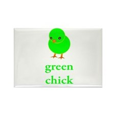 Green Chick Earth Day T Shirt Rectangle Magnet