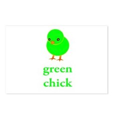 Green Chick Earth Day T Shirt Postcards (Package o