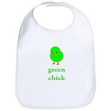 Green Chick Earth Day T Shirt Bib