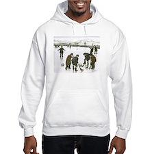 Hoodie Sweatshirt with Curling Print