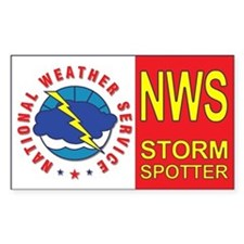 NWS STORM SPOTTER Window/Bumper Decal