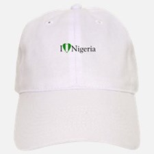 I Love Nigeria Baseball Baseball Cap