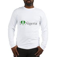 I Love Nigeria Long Sleeve T-Shirt