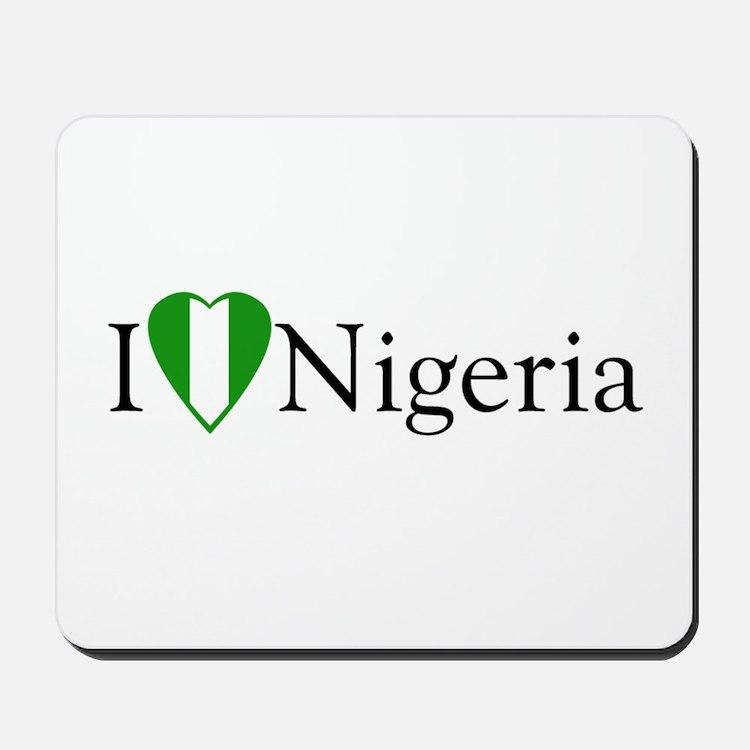 I Love Nigeria Mousepad