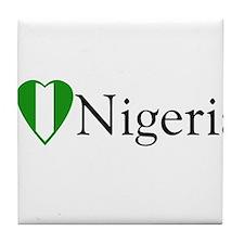 I Love Nigeria Tile Coaster