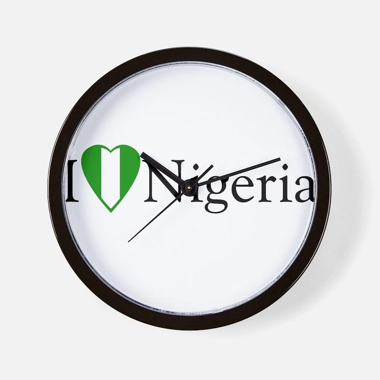 I Love Nigeria Wall Clock