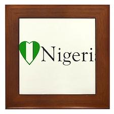 I Love Nigeria Framed Tile