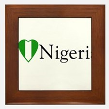 I Love Nigeria Framed Tile