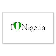 I Love Nigeria Rectangle Decal