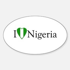 I Love Nigeria Oval Decal