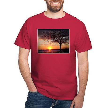 Lord's Prayer - Pink Sunset2 Dark T-Shirt