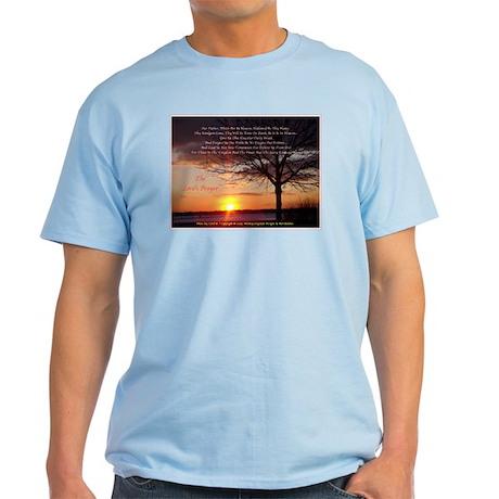 Lord's Prayer - Pink Sunset2 Light T-Shirt