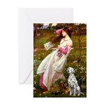 Windflowers / Dalmatian #1 Greeting Card