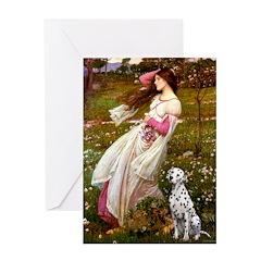 Windflowers / Dalmatian #1 Greeting Card