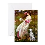 Windflowers / Dalmatian #1 Greeting Cards (Pk of 1