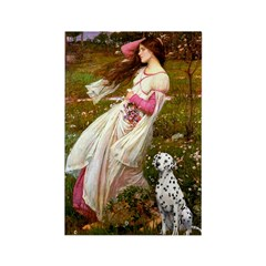 Windflowers / Dalmatian #1 Rectangle Magnet (100 p