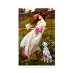 Windflowers / Dalmatian #1 Sticker (Rectangle)