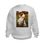 Windflowers / Dalmatian #1 Kids Sweatshirt