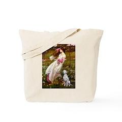 Windflowers / Dalmatian #1 Tote Bag