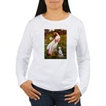 Windflowers / Dalmatian #1 Women's Long Sleeve T-S