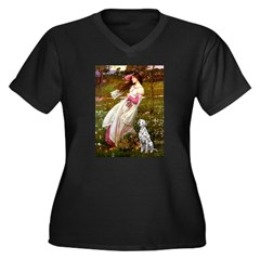 Windflowers / Dalmatian #1 Women's Plus Size V-Nec