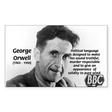 Politics / Language: Orwell Rectangle Decal