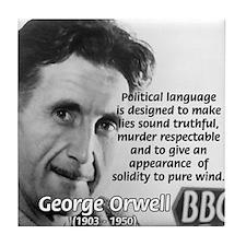 Politics / Language: Orwell Tile Coaster