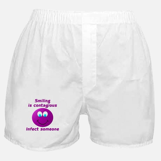 Smiling is contagious #5 Boxer Shorts