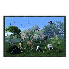 An exotic wild animal sce Postcards (Package of 8)