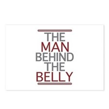 The Man Behind The Belly Postcards (Package of 8)