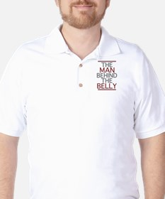 The Man Behind The Belly Golf Shirt