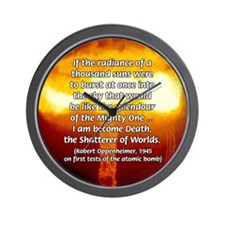 Atomic Bomb: Oppenheimer Wall Clock