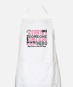HERO Comes Along 1 Sister BREAST CANCER BBQ Apron