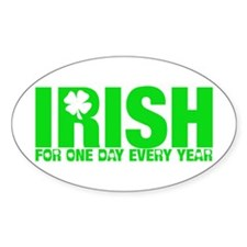 Irish on St. Patty's Day Oval Decal