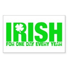 Irish on St. Patty's Day Rectangle Decal