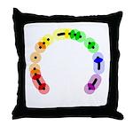 Lesbian Morse Arc Throw Pillow