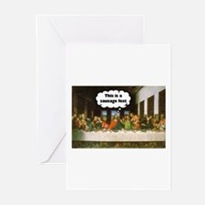 Last Supper - Sausage Fest Greeting Cards (Package
