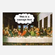 Last Supper - Sausage Fest Postcards (Package of 8