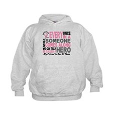 HERO Comes Along 1 Friend BREAST CANCER Hoodie