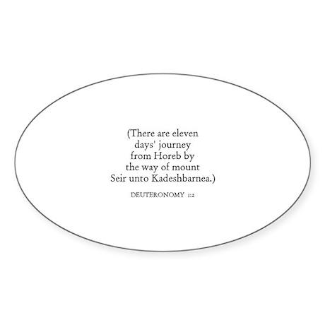 DEUTERONOMY 1:2 Oval Sticker