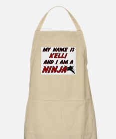 my name is kelli and i am a ninja BBQ Apron