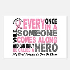HERO Comes Along 1 Best Friend BREAST CANCER Postc