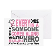 HERO Comes Along 1 Best Friend BREAST CANCER Greet
