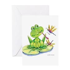 Logan the frog Greeting Card