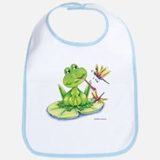 Logan the frog Bib